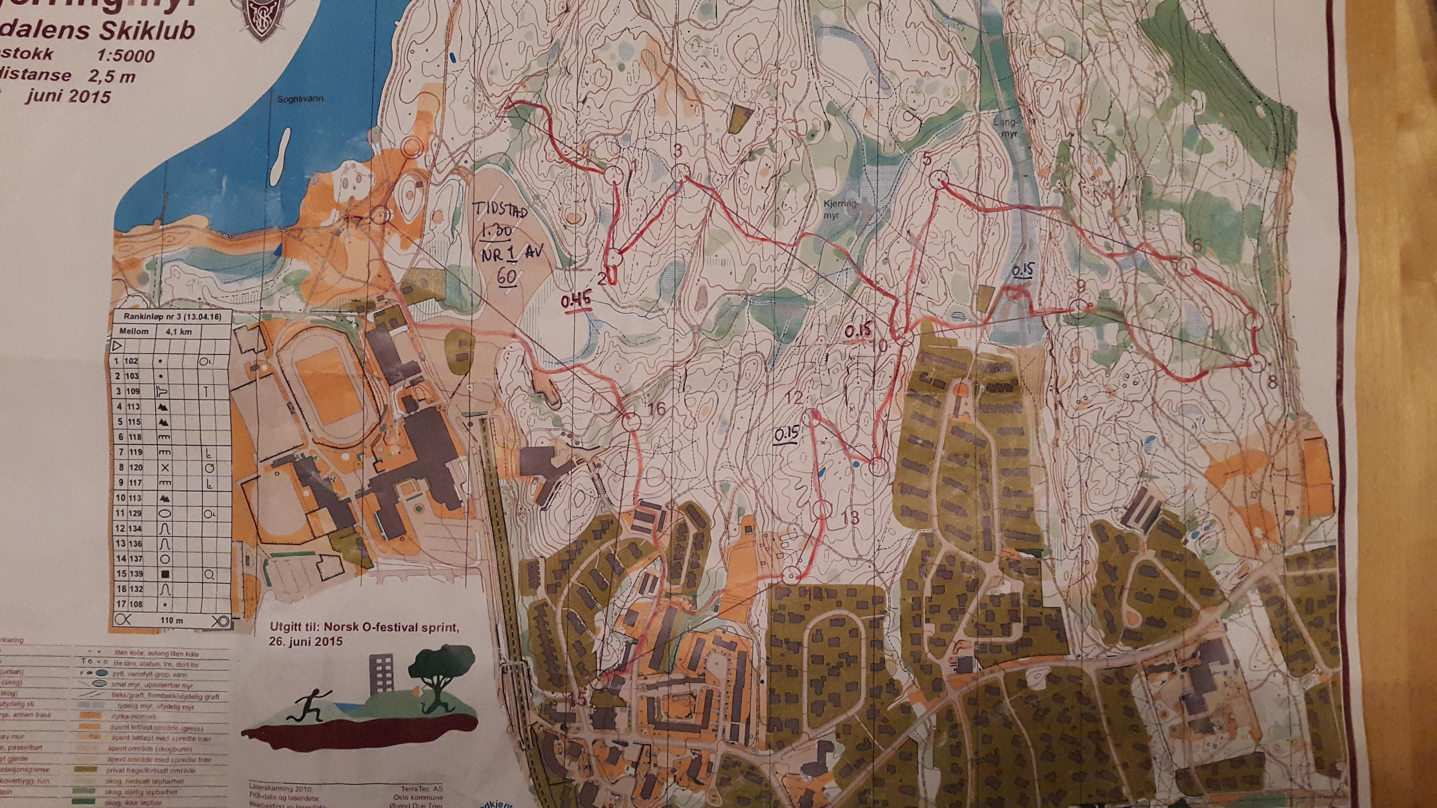 Geoform 3, Rankingløp Mellomløypa (4,1 km) (13.04.2016)