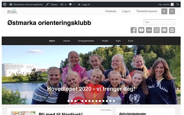 Nye nettsider for Østmarka orienteringsklubb