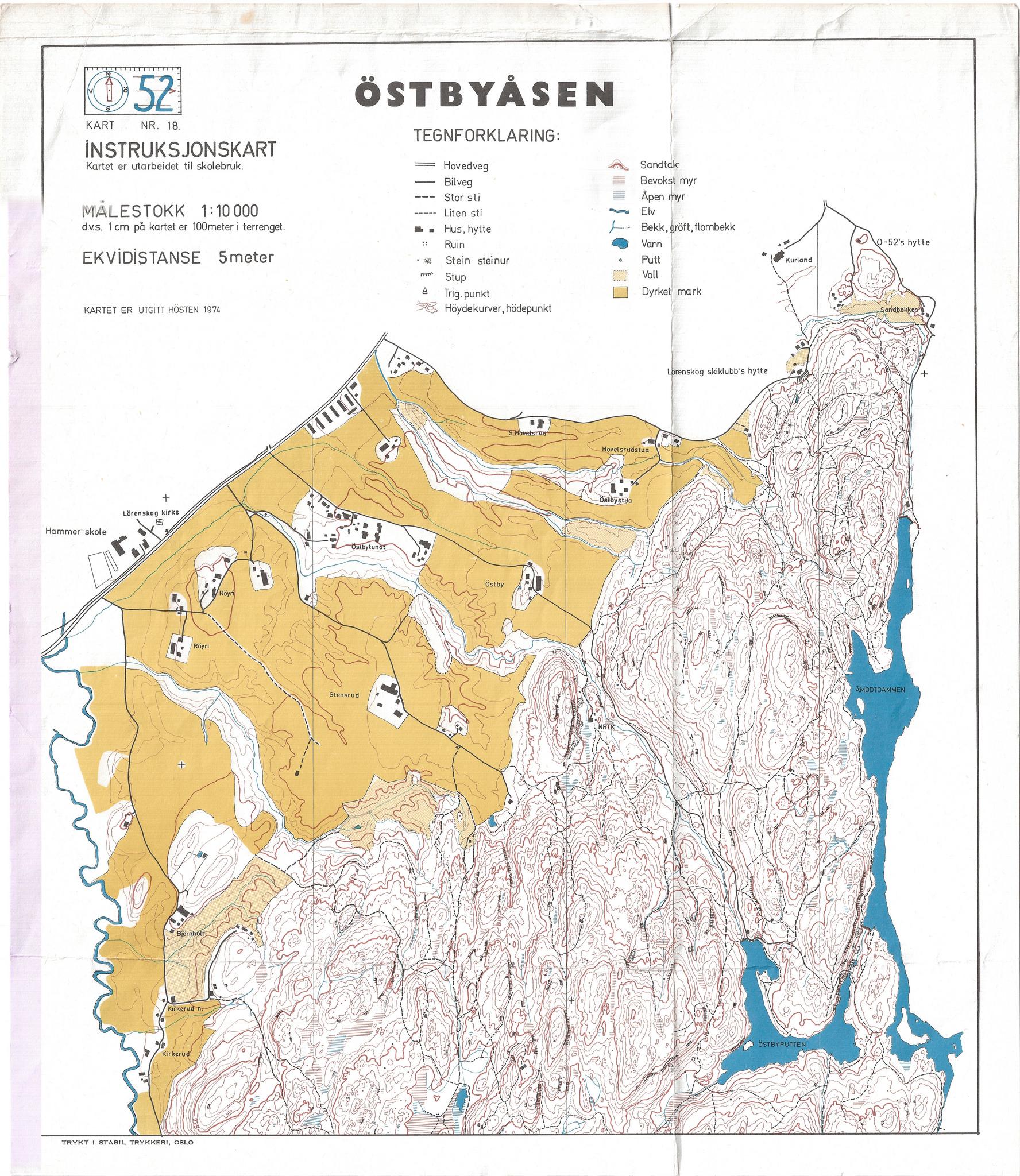 Historiske O Kart Ostmarka Orienteringsklubb