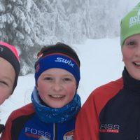 Blide o-jenter fra Østmarka orienteringsklubb